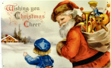 SANTA W/SACK OF TOYS CHRISTMAS SIGN