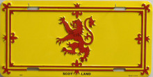 SCOTLAND RAMPANT LION LICENSE PLATE