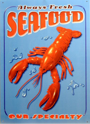 SEAFOOD (792) SIGN