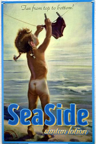 SEASIDE SUNTAN LOTION SIGN