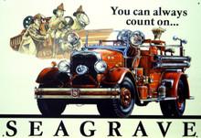 SEGRAVE FIRE ENGINE SIGN