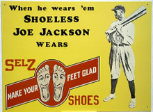 SHOELESS JOE JACKSON SHOES BASEBALL SIGN