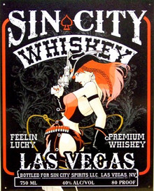 SIN CITY BEER LAS VEGAS SIGN