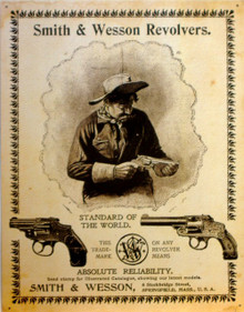 SMITH & WESSON REVOLVERS PISTOL SIGN