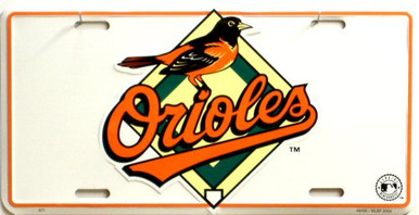 Photo of BALTIMORE ORIOLES METAL LICENSE PLATE