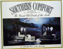 SOUTHERN COMFORT RACE WHISKEY SIGN