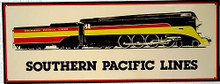 SOUTHERN PACIFIC LINES RR TRAIN SIGN
