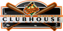 "Photo of BALTIMORE ORIOLES ""CLUBHOUSE"" BASEBALL SIGN GREAT COLORS AND GRAPHICS"