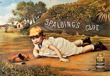 SPALDING GLUE SIGN