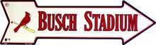 ST. LOUIS CARDINALS BASEBALL BUSCH FIELD ARROW SIGN