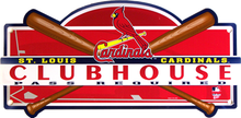 ST. LOUIS CARDINALS BASEBALL CLUB HOUSE SIGN