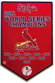 ST. LOUIS CARDINALS BASEBALL WORLD SERIES HOME PLATE SIGN