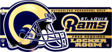 ST. LOUIS RAMS FOOTBALL LOCKER ROOM OLD STYLE SIGN