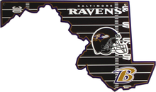 Photo of BALTIMORE RAVENS DIE CUT STATE MARYLAND SHAPED SIGN