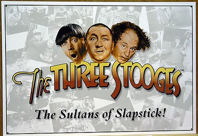 STOOGES SULTANS OF  SLAPSTIK SIGN