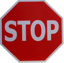 STOP SIGN EIGHT SIDED SIGN