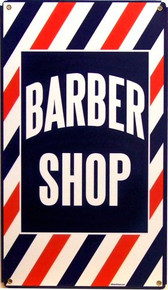 Photo of BARBER SHOP, Heavy Metal Sign with great color