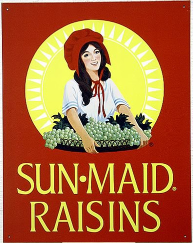 SUN MAID RASINS SIGN