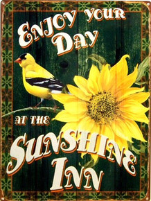SUNSHINE INN ENAMEL SIGN