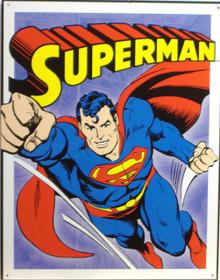 SUPERMAN - RETRO PANELS SUPER HERO SIGN
