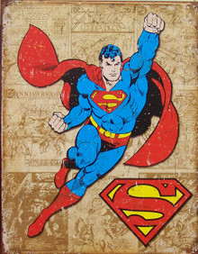 SUPERMAN WEATHERED PANELS SUPER HERO SIGN