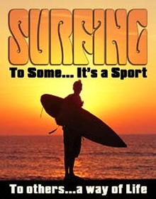 SURFING WAY OF LIFE SIGN
