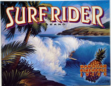 SURF RIDER VINTAGE TIN SIGN