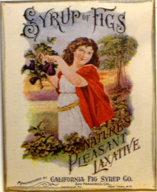 SYURP OF FIGS LAXITIVE MEDICINE SIGN