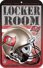TAMPA BAY BUCCANEERS FOOTBALL FAN PARKING SIGN