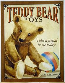 TEDDY BEAR TOYS SIGN