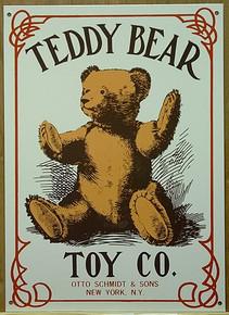 TEDDY BEAR TOYS N.Y SIGN