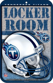 TENNESSEE TITANS FOOTBALL SIGN