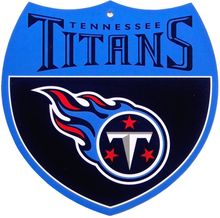 TENNESSEE TITANS FOOTBALL DIE CUT INTERSTATE SIGN