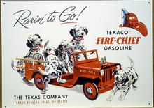 TEXACO RARIN TO GO GAS SIGN