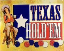 TEXAS HOLD'EM FLAG POKER SIGN