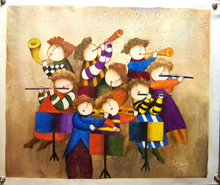 THE BAND OIL PAINTING
