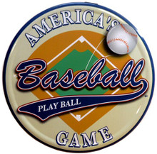 Photo of BASEBALL, AMERICA'S SPORT METAL SIGN