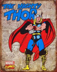 THOR PANELS RETRO SUPER HERO SIGN