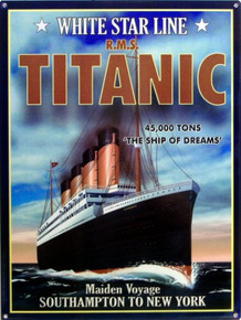 TITANIC MAIDEN VOYAGE SIGN