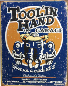 TOOL'IN  HAND GARAGE SIGN