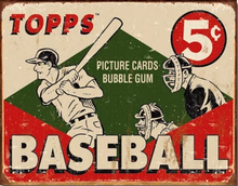 TOPPS BASEBALL CARD 1955 BOX TOP SIGN