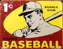 TOPPS 1959 BASEBALL CARD BOX TOP SIGN