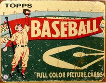 TOPPS BASEBALL 1954 CARD BOX TOP SIGN