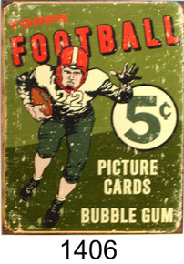 TOPPS FOOTBALL CARD BOX TOP SIGN