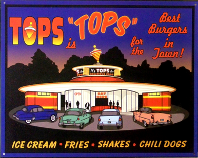 TOPS IS TOPS DINER SIGN