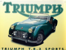 TRIUMPH TR3 ENAMEL CAR SIGN