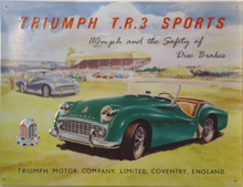 TRIUMPH  TR3  CAR SIGN