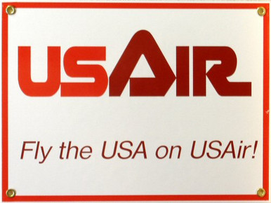 US AIR AIRLINES PORCELAIN SIGN