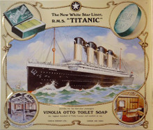 VINOLIA OTTO TOILET SOAP TITANIC SIGN