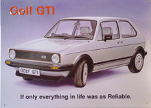 VOLKSWAGEN GOLF SIGN
